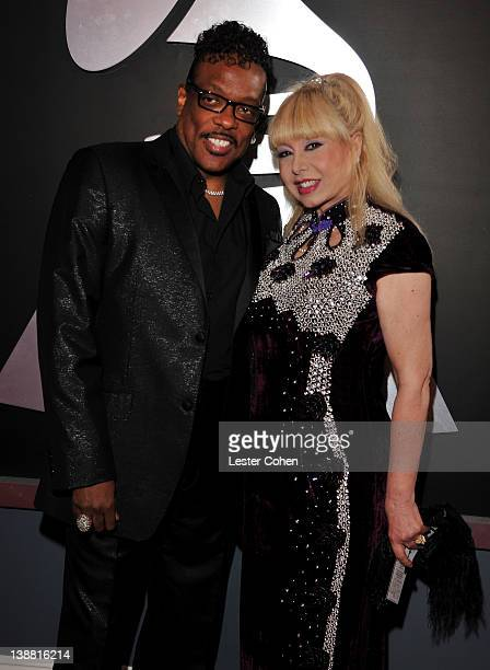 Singer Charlie Wilson and Mahin Wilson arrive at The 54th Annual GRAMMY Awards at Staples Center on February 12 2012 in Los Angeles California