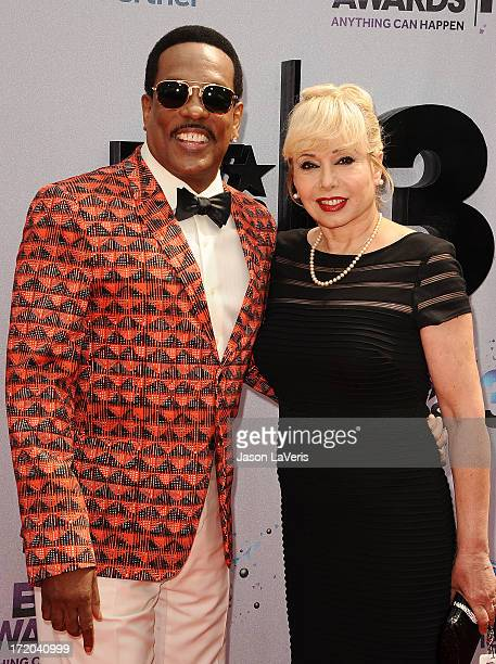 Singer Charlie Wilson and Mahin Wilson attend the 2013 BET Awards at Nokia Theatre LA Live on June 30 2013 in Los Angeles California