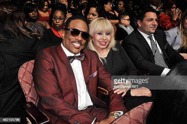 Singer Charlie Wilson and Mahin Wilson pose during The BET Honors 2015 at Warner Theatre on January 24 2015 in Washington DC