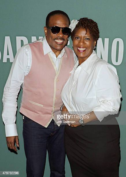 Singer Charlie Wilson and radio personality Tanya Simpson attend Charlie Wilson's book signing for 'I Am Charlie Wilson' at Barnes Noble Tribeca on...