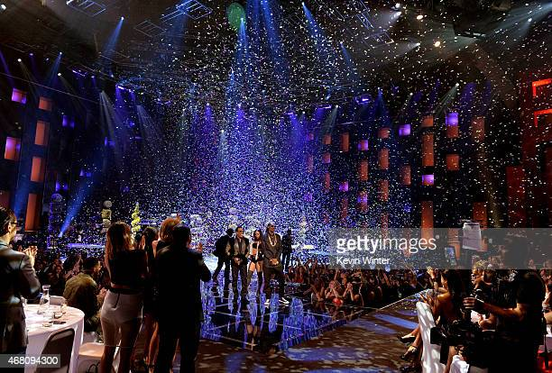 Singer Charlie Wilson and rapper Snoop Dogg perform onstage during the 2015 iHeartRadio Music Awards which broadcasted live on NBC from The Shrine...