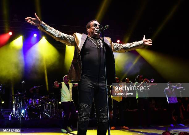 Singer Charlie Wilson performs in concert during the 2018 Funk Fest Tour at Wolf Creek Amphitheater on May 20 2018 in Atlanta Georgia