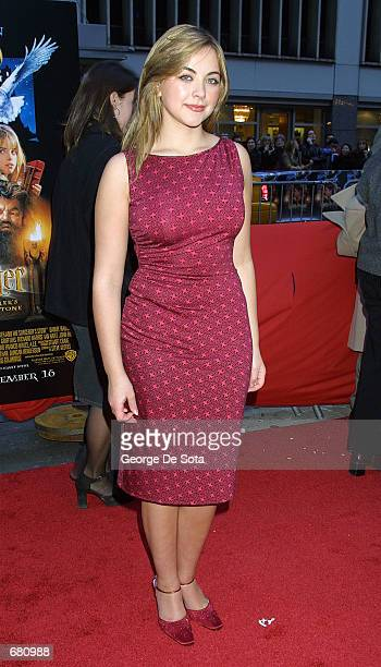 Singer Charlotte Church attends the premiere of Harry Potter and the Sorcerer's Stone November 11 2001 at the Ziegfeld Theatre in New York City