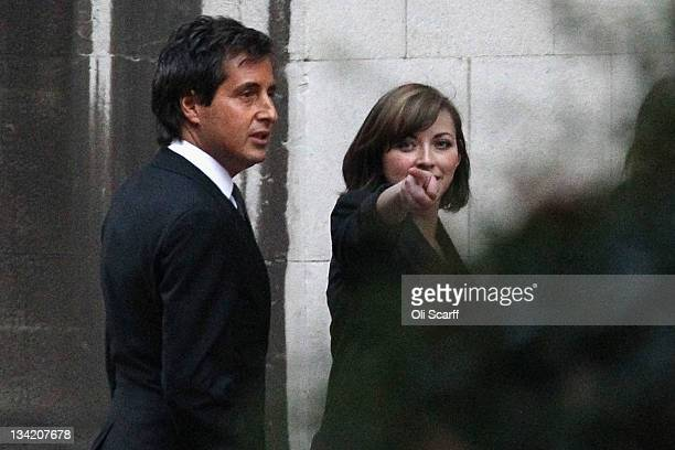 Singer Charlotte Church leaves with her lawyer David Sherborne after giving evidence to The Leveson Inquiry at The Royal Courts of Justice on...