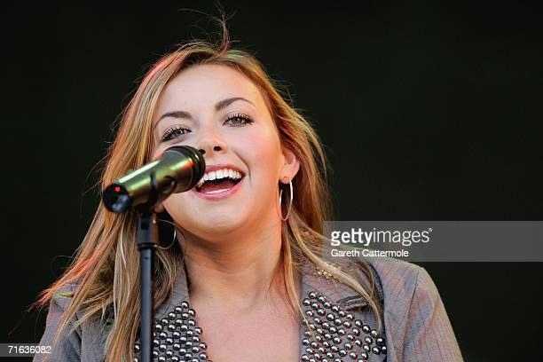 Singer Charlotte Church performs after The Dubai Duty Free Shergar Cup on August 12 2006 at Ascot England
