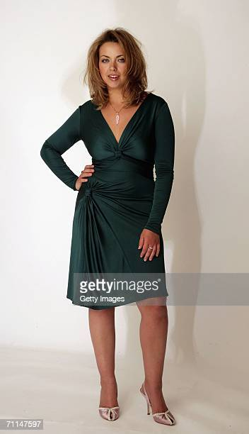 Singer Charlotte Church poses for a studio shoot to launch Orange Broadband at the Soho Hotel on June 7 2006 in London England The shoot preceeds her...