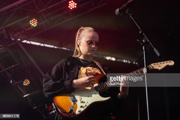 Singer Charlotte Day Wilson performs at the Upstream Music Festival in Pioneer Square on June 1 2018 in Seattle Washington
