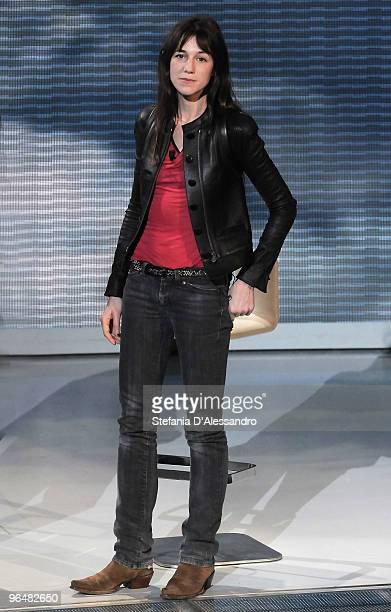 Singer Charlotte Gainsbourg attends 'Che Tempo Che Fa' Italian Tv Show held at Rai Studios on February 7 2010 in Milan Italy