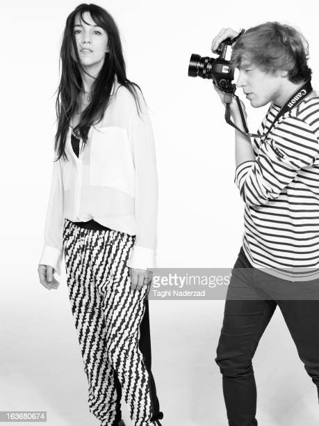 Singer Charlotte Gainsbourg is photographed for Grazia France on April 14 2012 in New York City