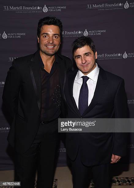 Singer Chayanne and Chairman and CEO Sony Music Entertainment Latin Iberia Afo Verde attend the TJ Martell Foundation's 39th Annual New York Honors...