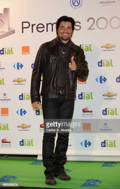 Singer Chayanne attends the ''Cadena Dial'' 2010 awards at the Tenerife Auditorium on February 11, 2010 in Tenerife, Spain.