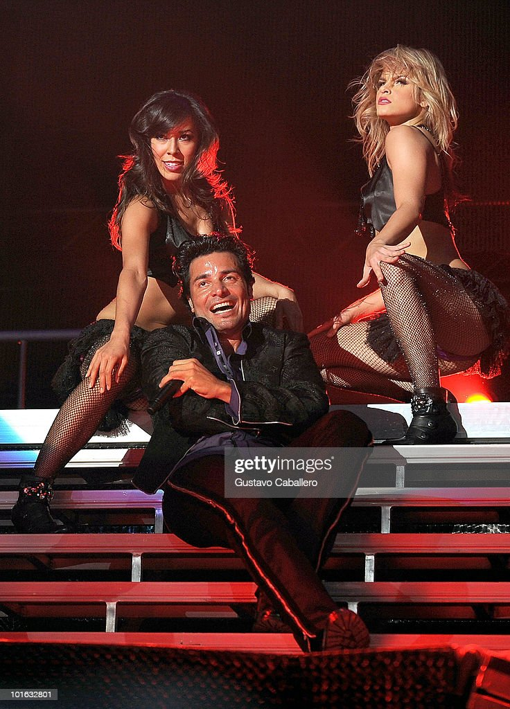 Singer Chayanne performs at American Airlines Arena on June 4, 2010 in Miami, Florida.