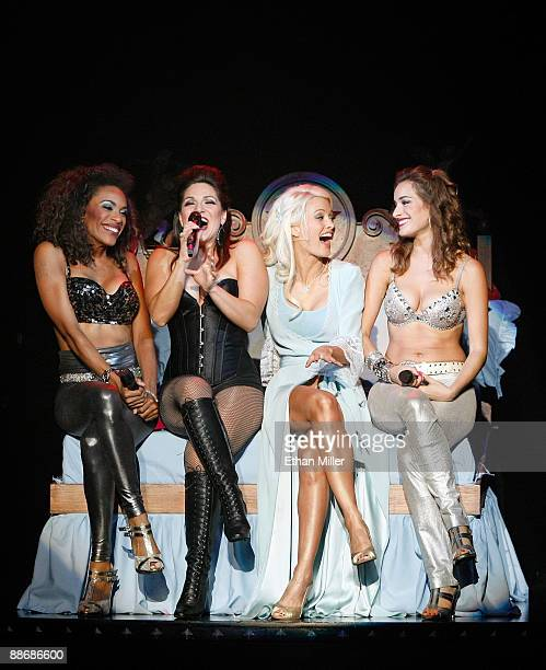 Singer Cheaza, actress Shoshana Bean, television personality and model Holly Madison and singer Jackie Seiden perform during the adult production...
