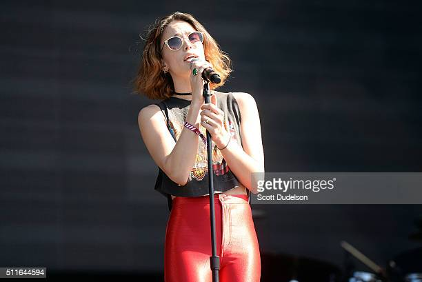 Singer Chelsea Tyler of Kaneholler performs onstage at Exposition Park on February 21 2016 in Los Angeles California