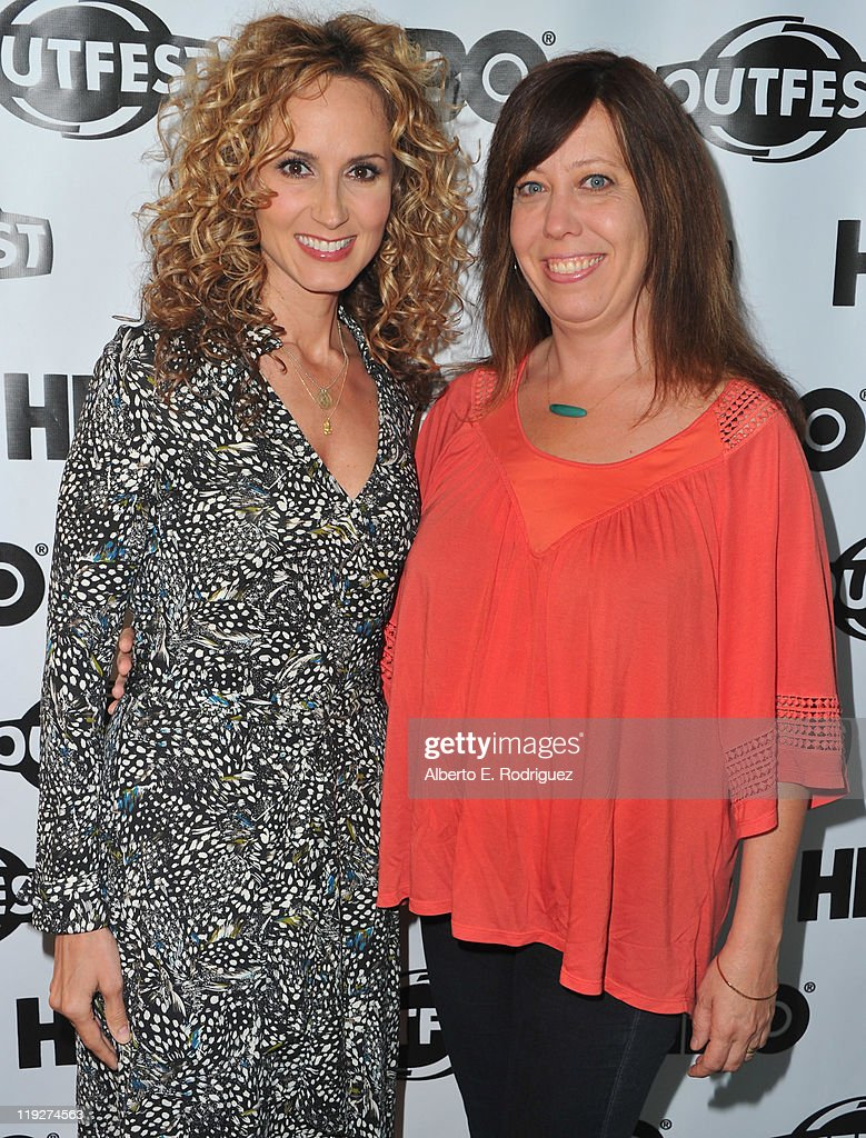 Singer Chely Wright and Outfest director Kirsten Schaffer arrive to the 2011 Outfest Special Screening of 'Wish Me Away' at Directors Guild Of America on July 15, 2011 in Los Angeles, California.