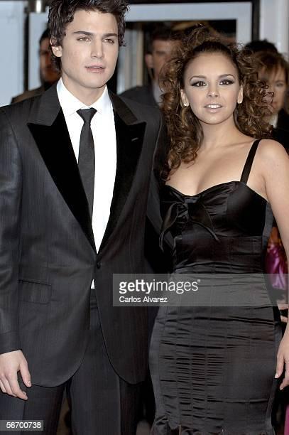 Singer Chenoa and boyfriend actor Alex Gonzalez attend the Goya Cinema Awards 2006 the main Spanish cinema awards at Palacio de Congresos on January...