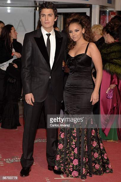 Singer Chenoa and boyfriend actor Alex Gonzalez attend the Goya Cinema Awards 2006 the main Spanish cinema awards at Palacio de Congresos on January...