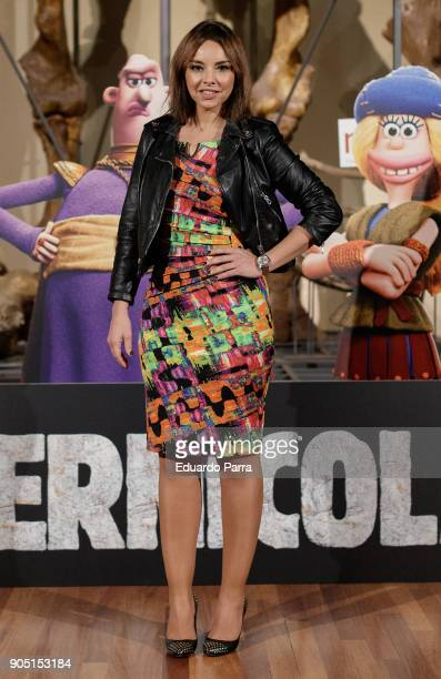 Singer Chenoa attends 'Cavernicola' photocall at Ciencias Naturales National Museum on January 15 2018 in Madrid Spain