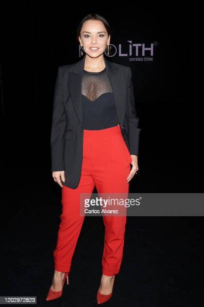 Singer Chenoa attends Hannibal Laguna fashion show during the Merecedes Benz Fashion Week Autum/Winter 202021 at Ifema on January 30 2020 in Madrid...