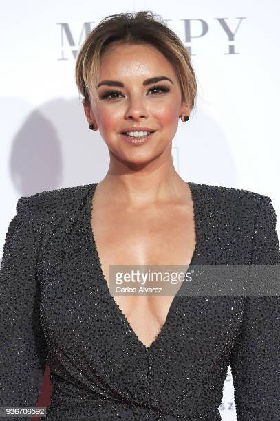 Singer Chenoa attends The Global Gift Gala at the ThyssenBornemisza museum on March 22 2018 in Madrid Spain