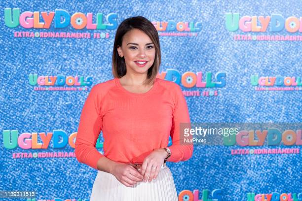 Singer Chenoa attends 'Uglydolls Extraordinariamente Feos' photocall in Madrid Spain