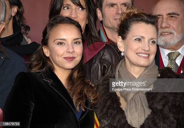 Singer Chenoa looks on as Ainhoa Arteta is appointed Snail Queen during the Snail Party at Can Soteras Restaurant on February 6 2012 in Barcelona...