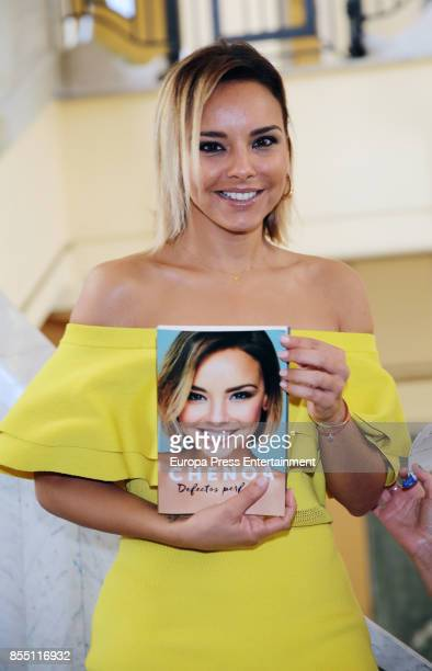 Singer Chenoa presents her book 'Defectos perfectos' on September 28 2017 in Madrid Spain
