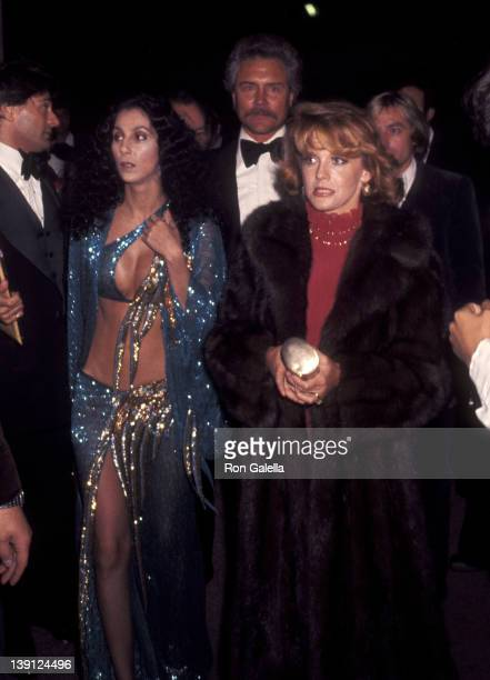 Singer Cher actress AnnMargret and husband Roger Smith attend the 'Joseph Andrews' Premiere Party on March 9 1977 at Century Plaza Hotel in Los...