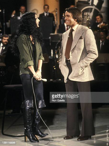 Singer Cher and actor John Ritter participate in the United Cerebral Palsy's Weekend with the Stars Telelthon on February 4 1978 in Los Angeles...