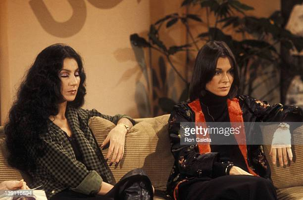 Singer Cher and actress Kate Jackson participate in the United Cerebral Palsy's Weekend with the Stars Telelthon on February 4 1978 in Los Angeles...