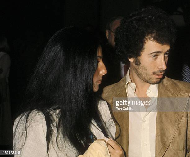 Singer Cher and producer David Geffen attend Connie Steven's Benefit Gala to Raise Money for ExHusband Jim Stacy's After Near Fatal Motorcycle...
