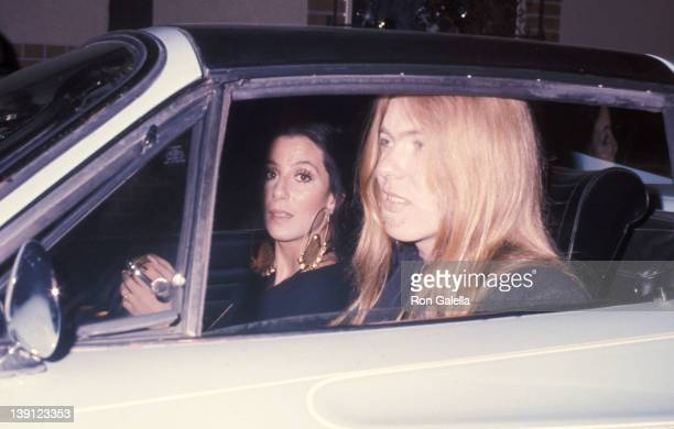 Singer Cher and singer Gregg Allman on February 23 1976 dine at Pips Club in Los Angeles California