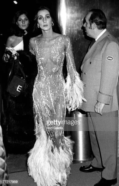 Singer Cher and sister Georganne LaPiere attending Romantic and Glamorous Hollywood Design Exhibition on November 20 1974 at November 20 1974 at the...