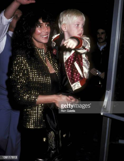 Singer Cher and son Elijah Blue Allman attend The Rocky Horror Picture Show Opening Night Performance on February 24 1981 at the Aquarius Theatre in...