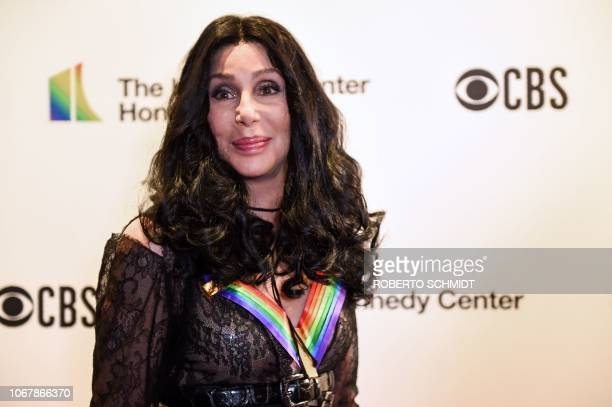 US singer Cher arrives at the 41st Annual Kennedy Center Honors in Washington DC on December 2 2018 The 2018 honorees are singer and actress Cher...
