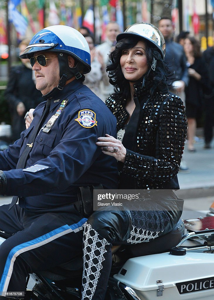 Singer Cher arrives to NBC's 'Today' at NBC's TODAY Show on September 23, 2013 in New York City.