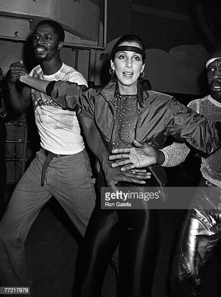 Singer Cher attending Casablanca Records Party on February 26 1979 at the Empire Roller Disco in New York City New York