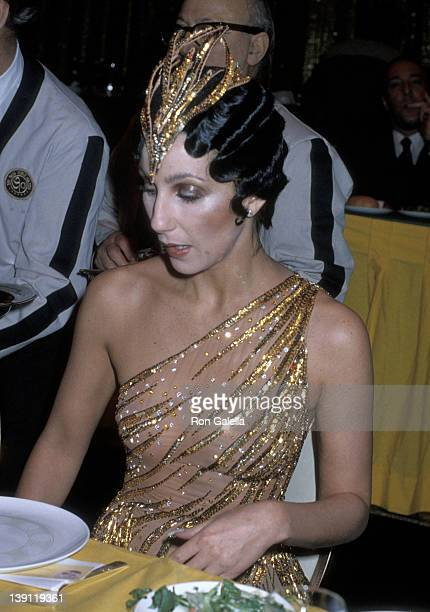 Singer Cher attends the Billboard Magazine's 1979 Disco Convention on February 28 1979 at the New York Hilton Hotel in New York City