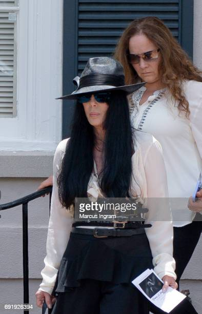 Singer Cher attends the Gregg Allman funeral on June 3 2017 in Macon Georgia Allman died May 27th due to complications from liver cancer at the age...
