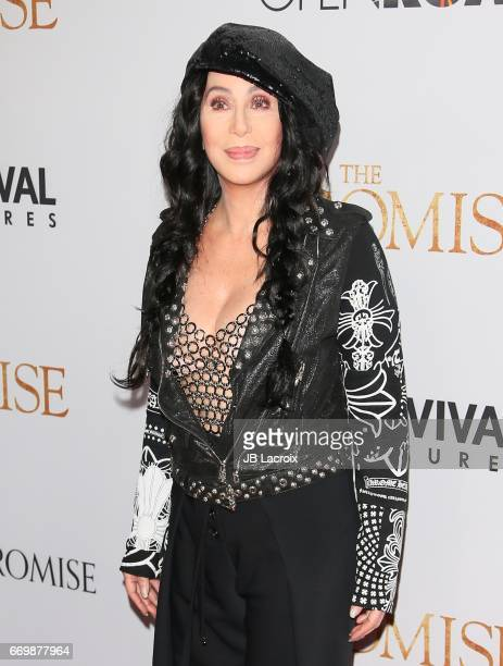 Singer Cher attends the premiere of Open Road Films' 'The Promise' on April 12 2017 in Hollywood California