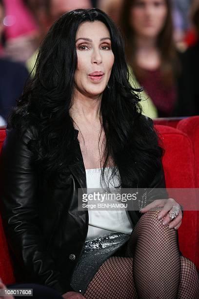 Singer Cher attends the Vivement Dimanche Tv show in on December 15 2010 Paris France