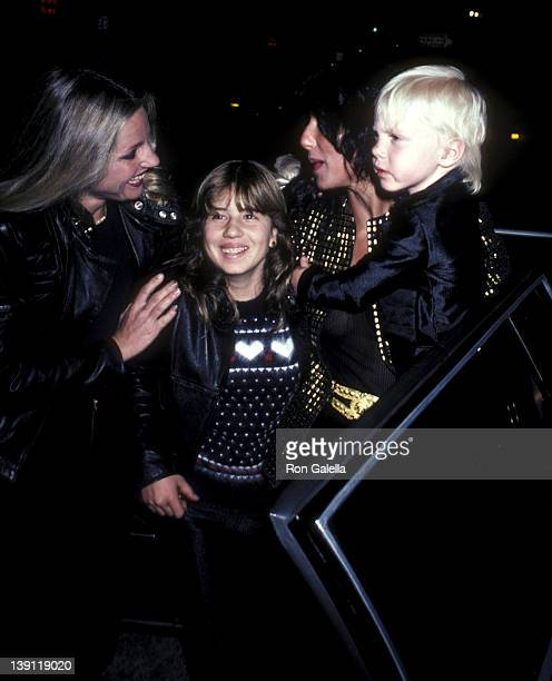 Singer Cher daughter Chastity Bono son Elijah Blue Allman and sister Georgianne LaPierre attend The Rocky Horror Picture Show Opening Night...