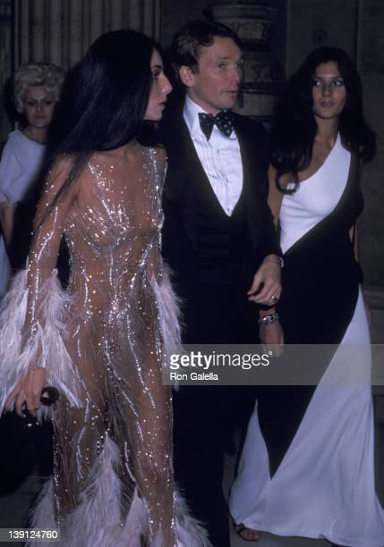 Singer Cher fashion designer Bob Mackie and Cher's friend Paulette Betts attend The Metropolitan Museum of Art's Costume Insitute Gala Exhibition...