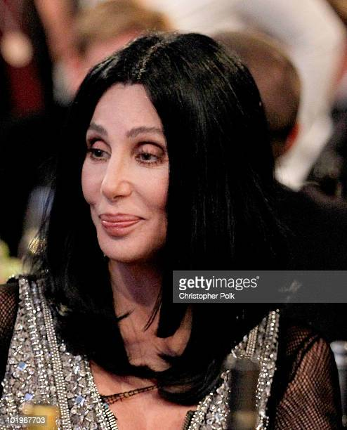 Singer Cher in the audience during the 38th AFI Life Achievement Award honoring Mike Nichols held at Sony Pictures Studios on June 10 2010 in Culver...