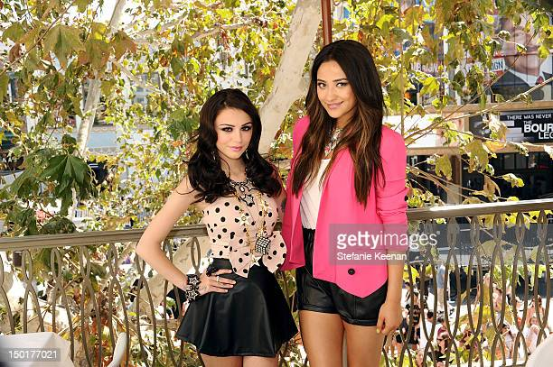 Singer Cher Lloyd and actress Shay Mithcell attend TEEN VOGUE's BacktoSchool Saturday Event at The Grove on August 11 2012 in Los Angeles California