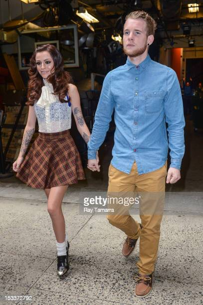 Singer Cher Lloyd and Craig Monk leave the Live With Kelly And Michael taping at the ABC Lincoln Center Studios on October 4 2012 in New York City
