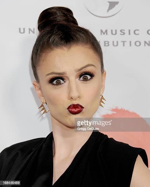 Singer Cher Lloyd arrives at the NARM Music Biz Awards dinner party at the Hyatt Regency Century Plaza on May 9 2013 in Century City California