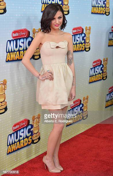 Singer Cher Lloyd arrives to the 2013 Radio Disney Music Awards at Nokia Theatre LA Live on April 27 2013 in Los Angeles California
