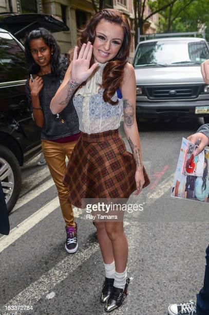 Singer Cher Lloyd leaves the Live With Kelly And Michael taping at the ABC Lincoln Center Studios on October 4 2012 in New York City