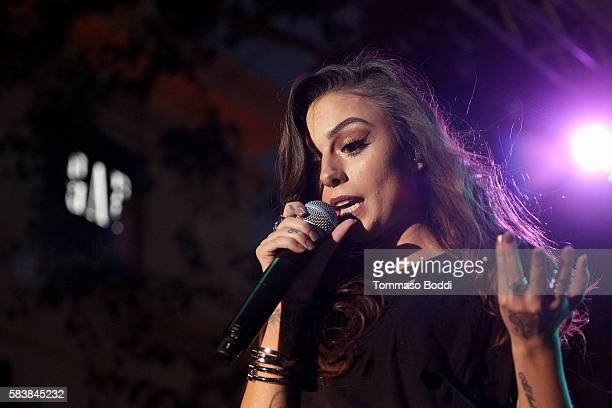Singer Cher Lloyd perform at The Grove's Summer Concert Series held at The Grove on July 27 2016 in Los Angeles California